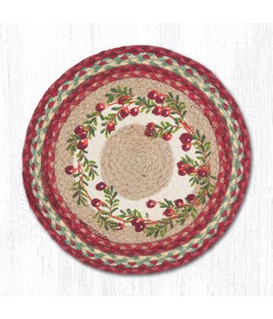 PM-RP-390 Cranberries Printed Round Placemat 15 in.x15 in.x0.17 in.