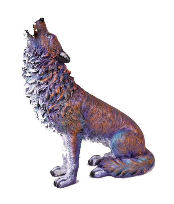 MULTI COLOR WOLF 7.5 in.