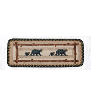 PP-116 Mama & Baby Bear Oblong Printed Table Runner 13 in.x36 in.x0.17 in.