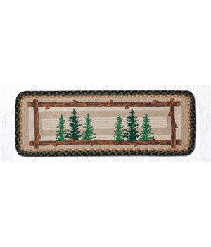 PP-116 Tall Timbers Oblong Printed Table Runner 13 in.x36 in.x0.17 in.