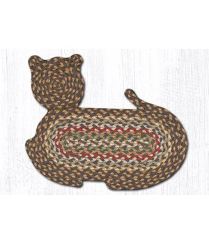 CT-51 Fir/Ivory Cat Shaped Rug 14.5 in.x19.5 in.x0.17 in.