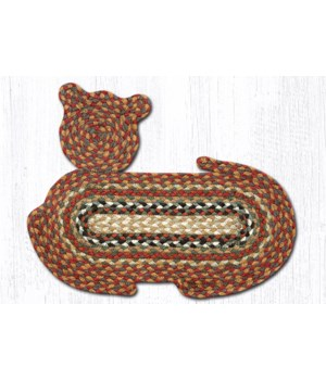CT-300 Honey/Vanilla/Ginger Cat Shaped Rug 14.5 in.x19.5 in.x0.17 in.