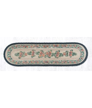 025A Pinecone Oval Patch Runner 13 in.x48 in.x0.17 in.