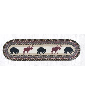 OP-43 Bear/Moose Oval Patch Runner 13 in.x48 in.x0.17 in.