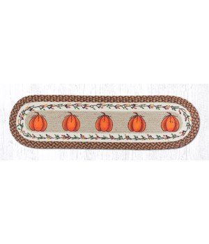OP-222 Harvest Pumpkin Oval Patch Runner 13 in.x48 in.x0.17 in.
