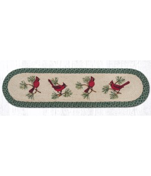 OP-365 Cardinals Oval Patch Runner 13 in.x48 in.x0.17 in.