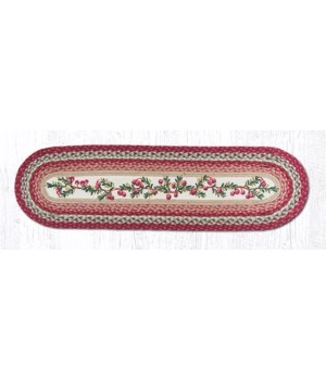 OP-390 Cranberries Oval Patch Runner 13 in.x48 in.x0.17 in.