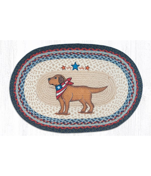 OP-15 Yellow Lab Oval Patch 20 x 30 x 0.17 in.
