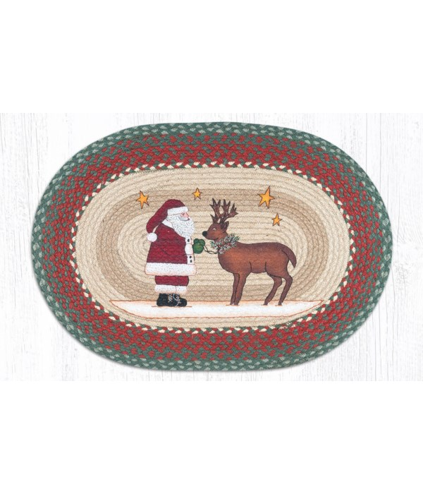 OP-25 Santa Reindeer Oval Patch 20 x 30 x 0.17 in.