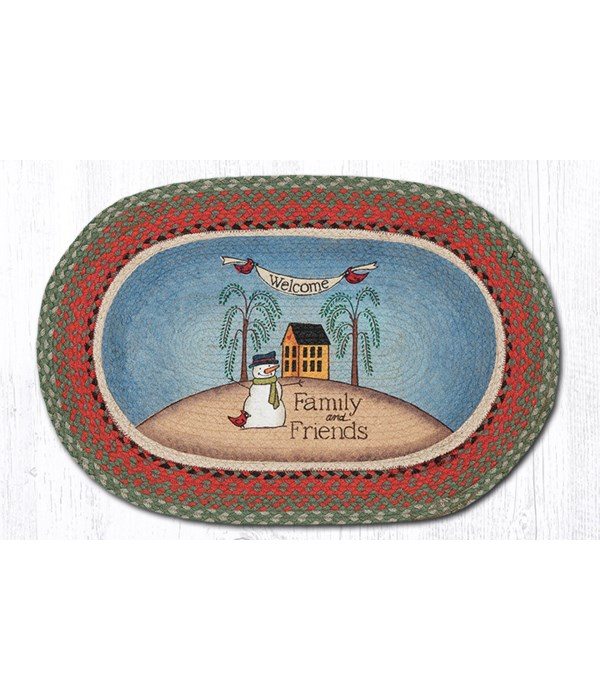 OP-25 Welcome Family & Friends Oval Patch 20 x 30 x 0.17 in.