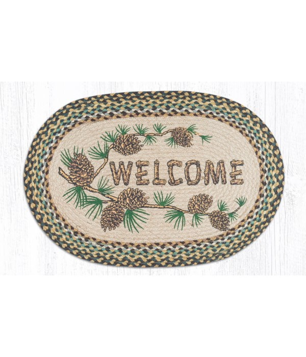 OP-51 Welcome Patch Oval Patch 20 x 30 x 0.17 in.