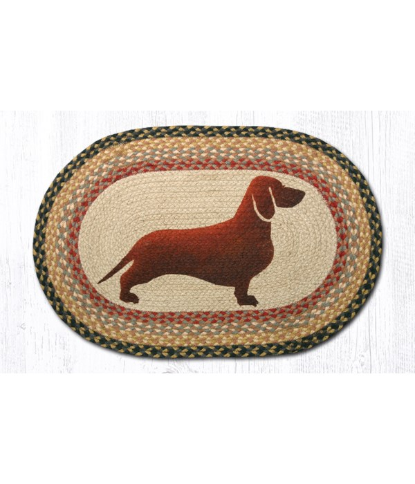 OP-57 Dachshund Oval Patch 20 x 30 x 0.17 in.