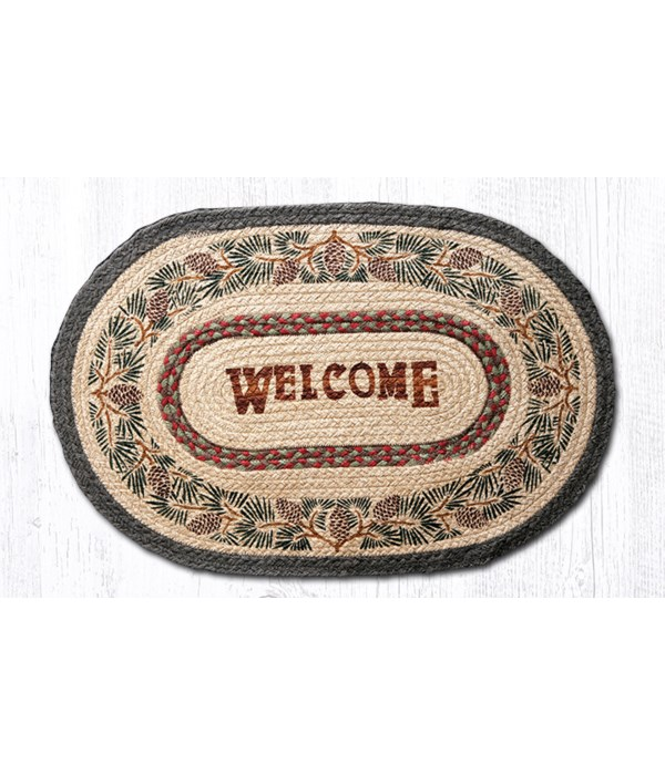 OP-81 Pinecone Welcome Oval Patch 20 x 30 x 0.17 in.