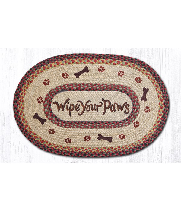 OP-81 Wipe Your Paws Oval Patch 20 x 30 x 0.17 in.