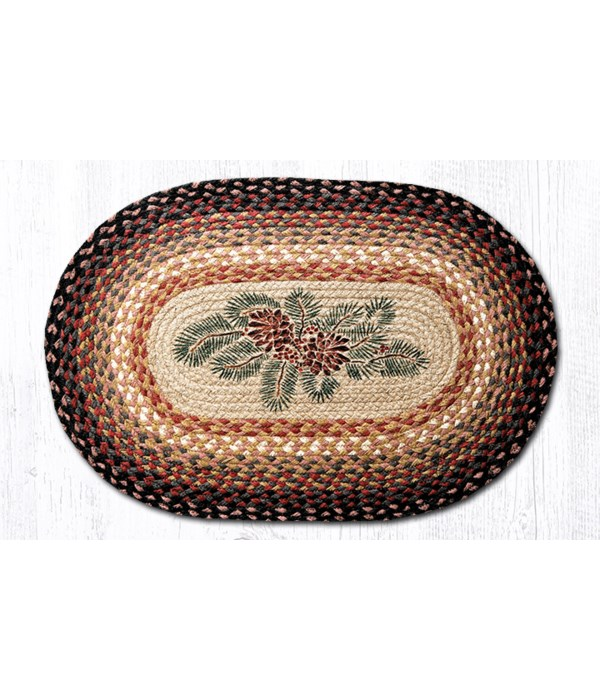 OP-83 Pinecone Red Berry Oval Patch 20 x 30 x 0.17 in.