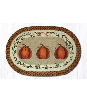OP-222 Harvest Pumpkin Oval Patch 20 x 30 x 0.17 in.