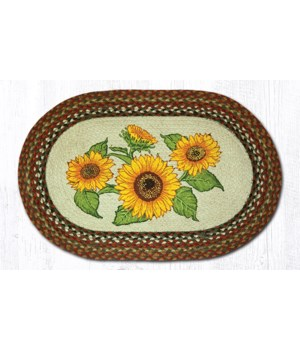 OP-300 Sunflowers Oval Patch 20 x 30 x 0.17 in.