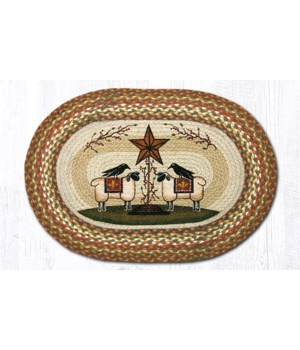 OP-300 Sheep & Barn Star Oval Patch 20 x 30 x 0.17 in.