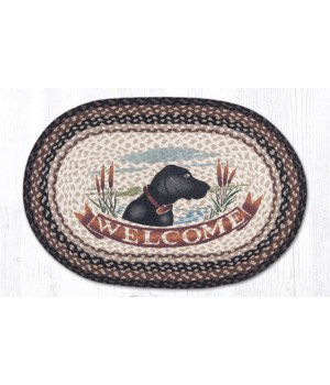 OP-313 Welcome Dog Oval Patch 20 x 30 x 0.17 in.
