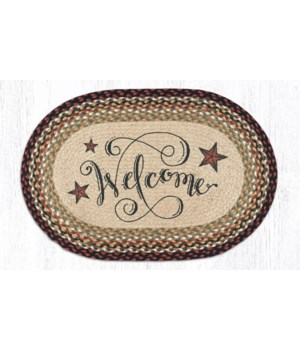 OP-319 Welcome Barn Stars Oval Patch 20 x 30 x 0.17 in.