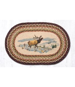 OP-319 Winter Elk Oval Patch 20 x 30 x 0.17 in.