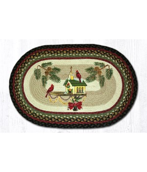 OP-338 Christmas Birdhouse Oval Patch 20 x 30 x 0.17 in.