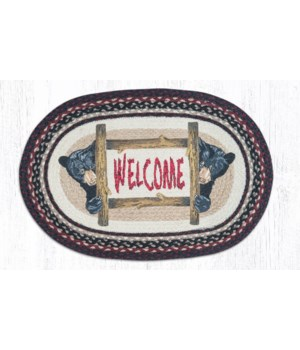 OP-344 Bear Welcome Oval Patch 20 x 30 x 0.17 in.