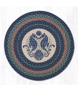 RP-453 Shell Coast Seahorse Round Patch 27 in.x27 in.x0.17 in.