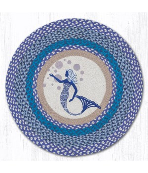 RP-527 Blue Mermaid Round Patch 27 in.x27 in.x0.17 in.