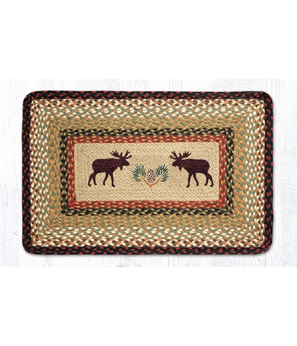 PP-19 Moose/Pinecone Oblong Patch 20 x 30 x 0.17 in.