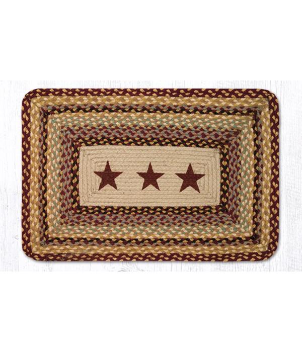 PP-357 Burgundy Stars Oblong Patch 20 x 30 x 0.17 in.