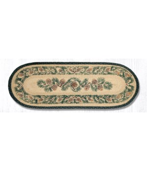 025A Pinecone Oval Table Runner 13 in.x36 in.x0.17 in.