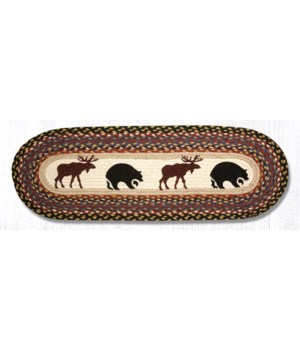 OP-43 Bear/Moose Oval Patch Runner 13 in.x36 in.x0.17 in.