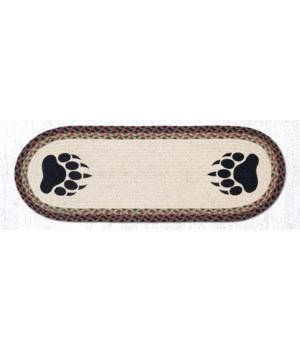 OP-81 Bear Paw Oval Patch Runner 13 in.x36 in.x0.17 in.