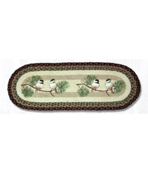 OP-81 Chickadee Oval Patch Runner 13 in.x36 in.x0.17 in.