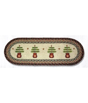OP-81 Feather Tree Oval Patch Runner 13 in.x36 in.x0.17 in.