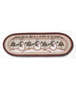 OP-81 Moon & Star Snowman Oval Patch Runner 13 in.x36 in.x0.17 in.