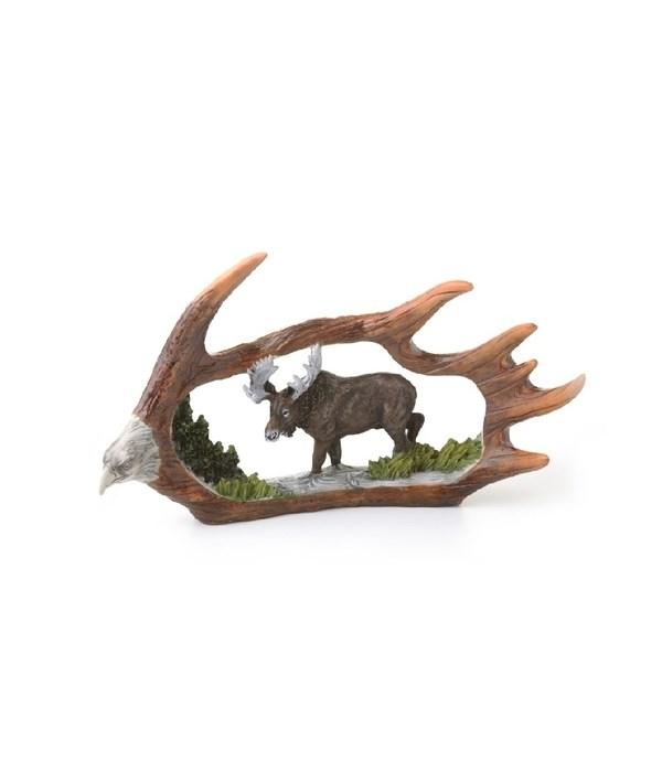 Moose Antler Carving - 9 in.W