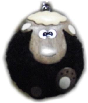 BLACK SHEEP  POM-POM KEYCHAIN  Set of 3