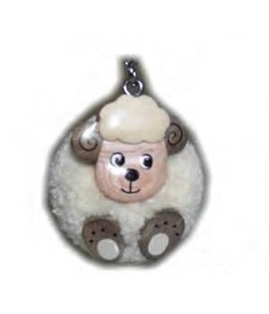 SHEEP POM-POM KEYCHAIN  Set of 3