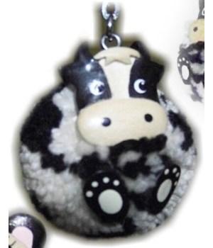 COW POM-POM KEYCHAIN  Set of 3