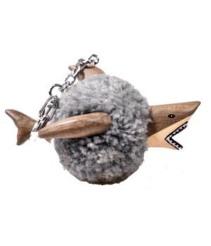 SHARK POM POM W/G-CLIP SET OF 3
