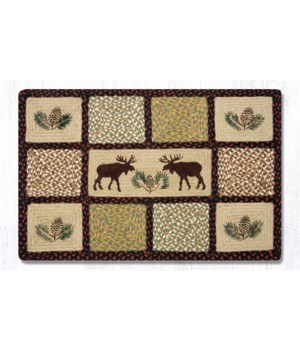 QP-19 Moose/Pinecone Rectangle Quilt Patch 20 x 30 x 0.17 in.
