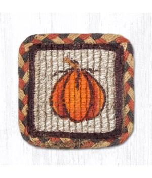 WW-222 Harvest Pumpkin Wicker Weave Coaster 5 x 5  x 0.17 in.