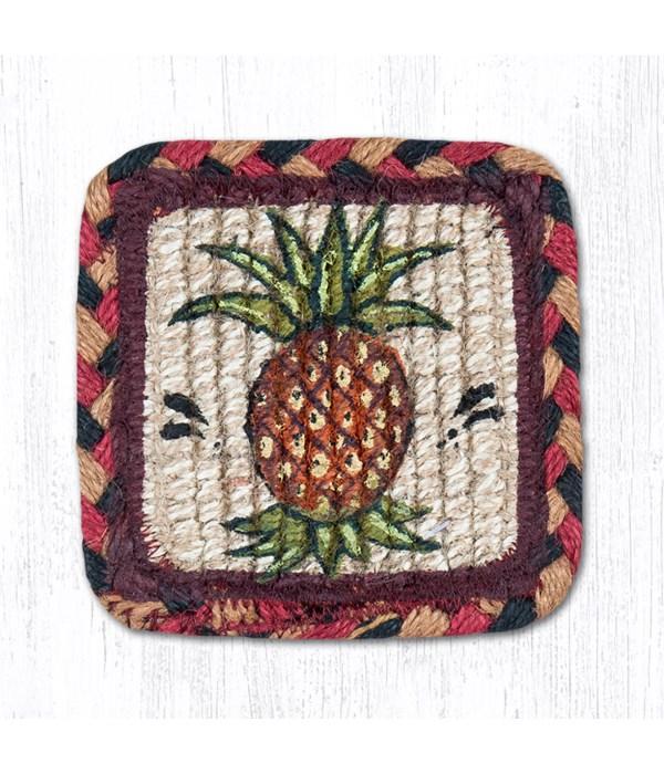 WW-375 Pineapple Wicker Weave Coaster 5 x 5  x 0.17 in.