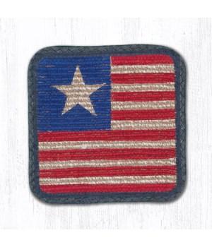 WW-1032 Original Flag Wicker Weave Trivet 9 in.x9 in.x0.17 in.