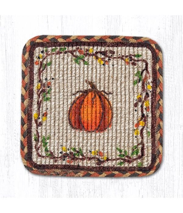WW-222 Harvest Pumpkin Wicker Weave Trivet 9 in.x9 in.x0.17 in.