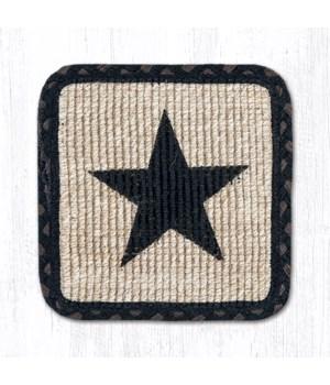 WW-313 Black Star Wicker Weave Trivet 9 in.x9 in.x0.17 in.