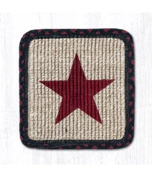 WW-344 Burgundy Star Wicker Weave Trivet 9 in.x9 in.x0.17 in.