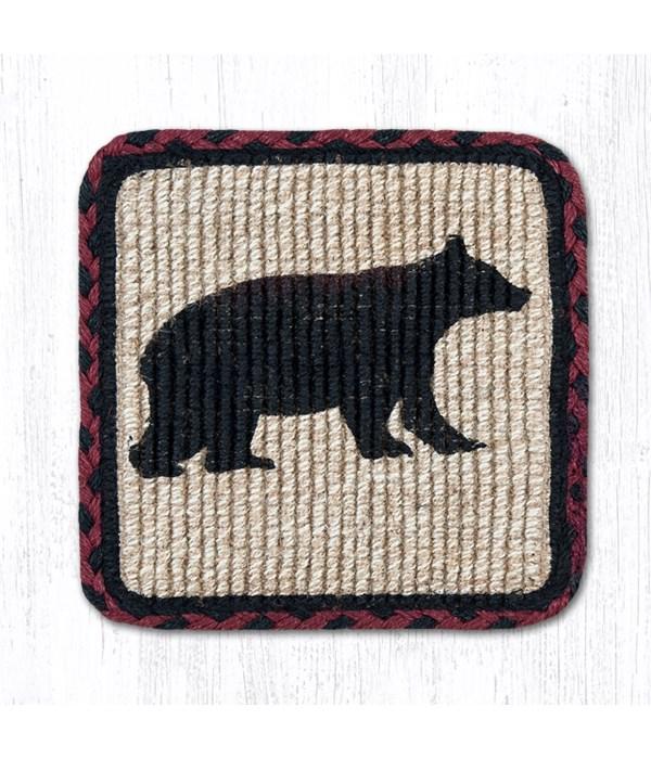 WW-395 Cabin Bear Wicker Weave Trivet 9 in.x9 in.x0.17 in.